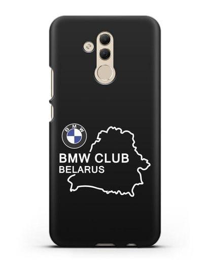 Чехол BMW Club Belarus силикон черный для Huawei Mate 20 Lite