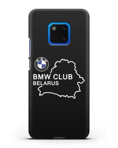 Чехол BMW Club Belarus силикон черный для Huawei Mate 20 Pro