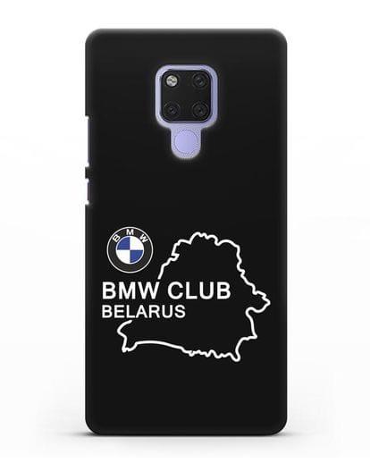 Чехол BMW Club Belarus силикон черный для Huawei Mate 20X