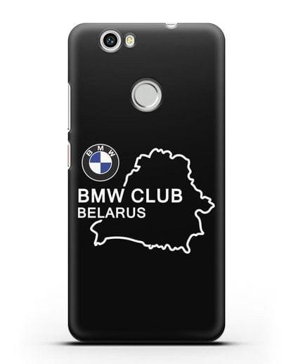 Чехол BMW Club Belarus силикон черный для Huawei Nova