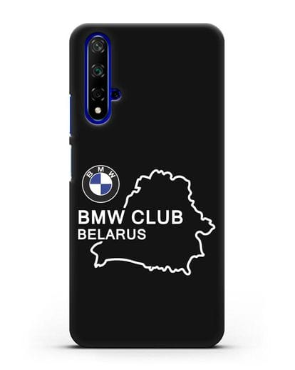 Чехол BMW Club Belarus силикон черный для Huawei Nova 5T