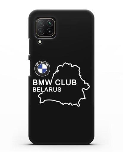 Чехол BMW Club Belarus силикон черный для Huawei Nova 7i
