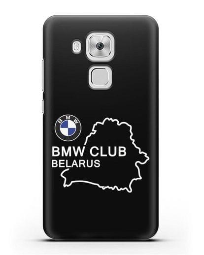 Чехол BMW Club Belarus силикон черный для Huawei Nova Plus