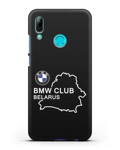 Чехол BMW Club Belarus силикон черный для Huawei P Smart 2019