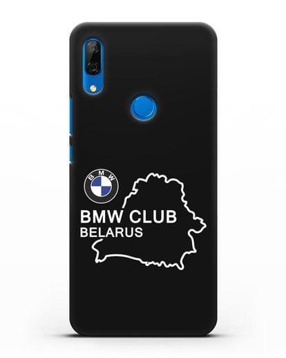 Чехол BMW Club Belarus силикон черный для Huawei P Smart Z
