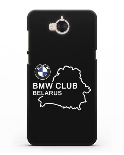 Чехол BMW Club Belarus силикон черный для Huawei Y5 2017
