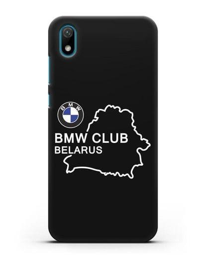 Чехол BMW Club Belarus силикон черный для Huawei Y5 2019
