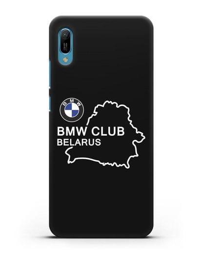 Чехол BMW Club Belarus силикон черный для Huawei Y6 2019