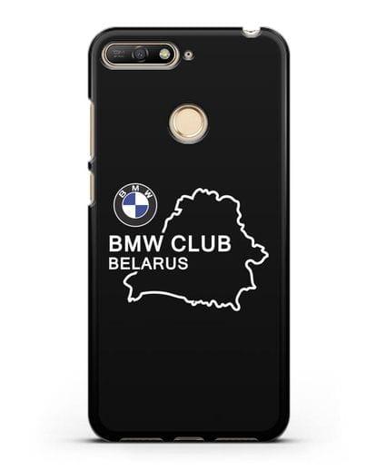 Чехол BMW Club Belarus силикон черный для Huawei Y6 Prime 2018