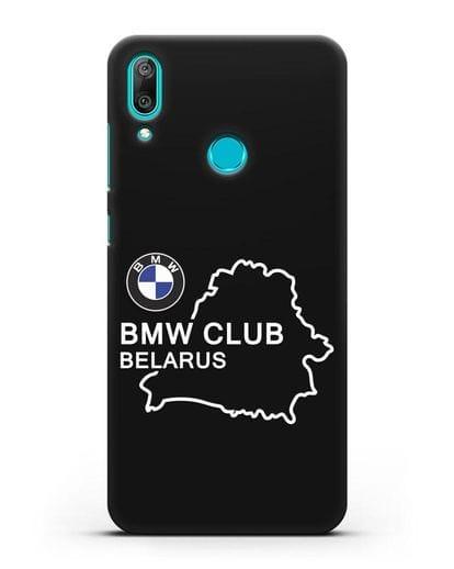 Чехол BMW Club Belarus силикон черный для Huawei Y7 2019