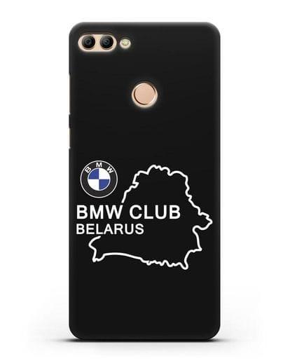Чехол BMW Club Belarus силикон черный для Huawei Y9 2018