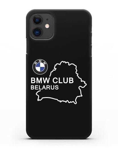 Чехол BMW Club Belarus силикон черный для iPhone 11