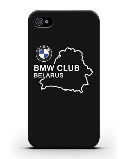 Чехол BMW Club Belarus силикон черный для iPhone 4/4s