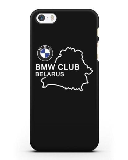 Чехол BMW Club Belarus силикон черный для iPhone 5/5s/SE