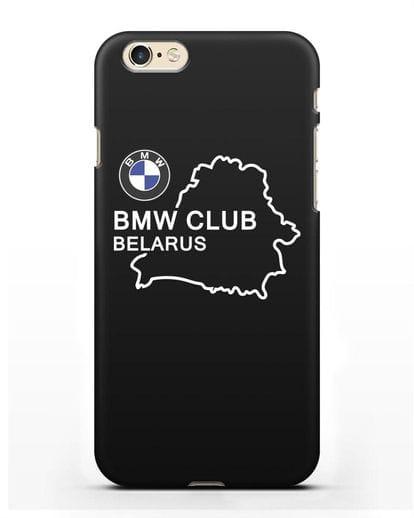 Чехол BMW Club Belarus силикон черный для iPhone 6s