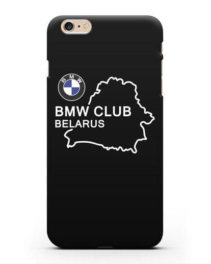 Чехол BMW Club Belarus силикон черный для iPhone 6s Plus