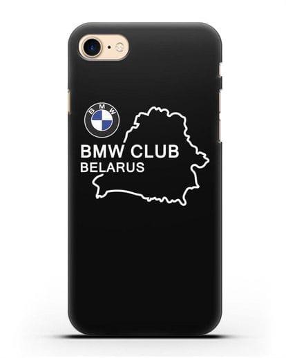 Чехол BMW Club Belarus силикон черный для iPhone 8