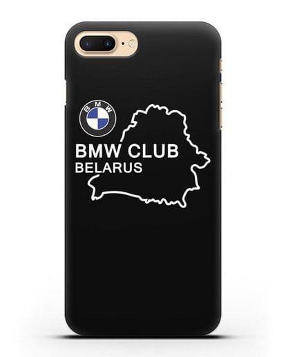 Чехол BMW Club Belarus силикон черный для iPhone 8 Plus