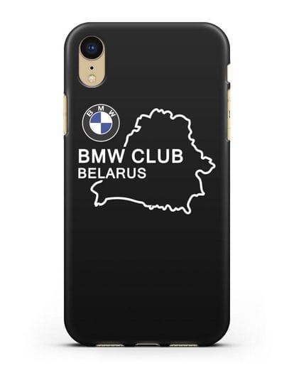 Чехол BMW Club Belarus силикон черный для iPhone XR