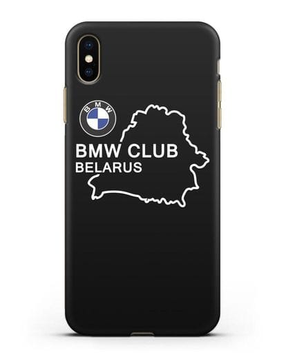 Чехол BMW Club Belarus силикон черный для iPhone XS Max