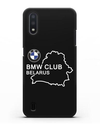 Чехол BMW Club Belarus силикон черный для Samsung Galaxy A01 [SM-A015F]