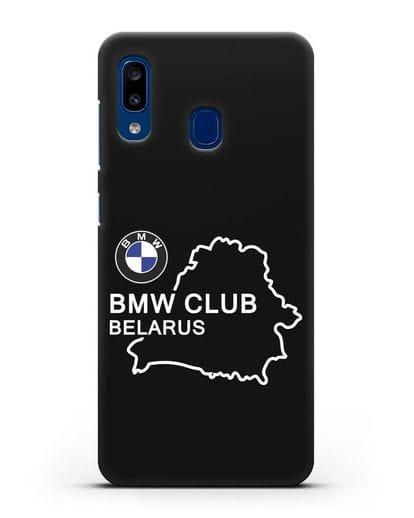 Чехол BMW Club Belarus силикон черный для Samsung Galaxy A20 [SM-A205FN]