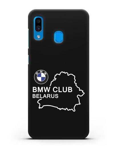 Чехол BMW Club Belarus силикон черный для Samsung Galaxy A30 [SM-A305FN]