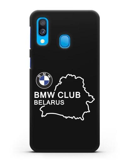 Чехол BMW Club Belarus силикон черный для Samsung Galaxy A40 [SM-A405F]