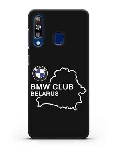 Чехол BMW Club Belarus силикон черный для Samsung Galaxy A60 [SM-A606F]
