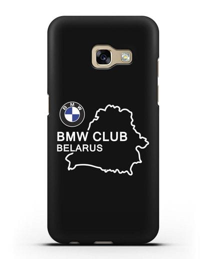 Чехол BMW Club Belarus силикон черный для Samsung Galaxy A7 2017 [SM-A720F]