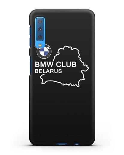 Чехол BMW Club Belarus силикон черный для Samsung Galaxy A7 2018 [SM-A750F]