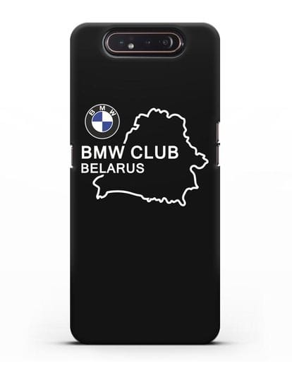 Чехол BMW Club Belarus силикон черный для Samsung Galaxy A80 [SM-A805F]