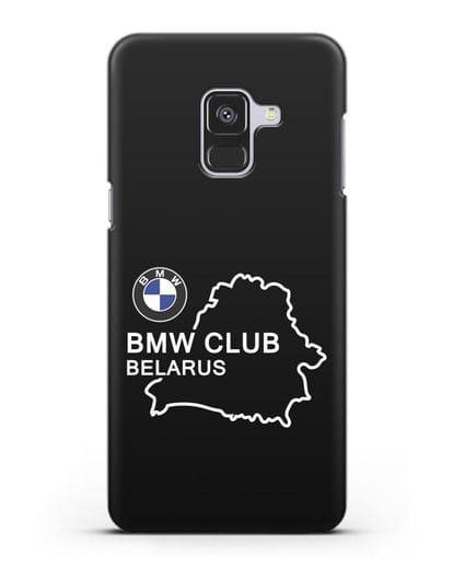 Чехол BMW Club Belarus силикон черный для Samsung Galaxy A8 Plus [SM-A730F]