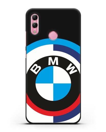 Чехол с логотипом BMW силикон черный для Honor 10 Lite