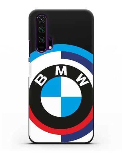 Чехол с логотипом BMW силикон черный для Honor 20 Pro