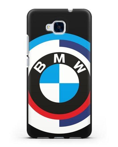 Чехол с логотипом BMW силикон черный для Honor 5C