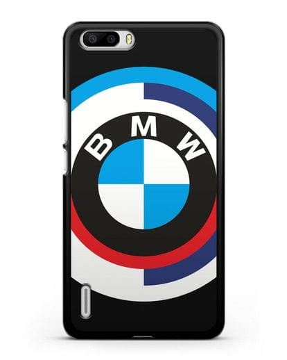 Чехол с логотипом BMW силикон черный для Honor 6 Plus