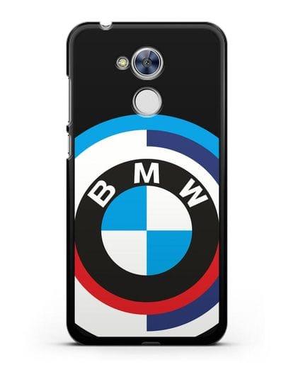 Чехол с логотипом BMW силикон черный для Honor 6A