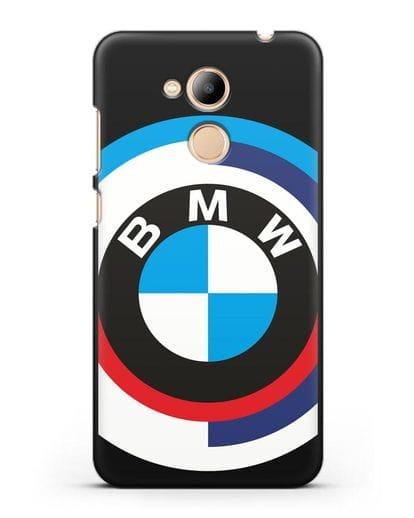 Чехол с логотипом BMW силикон черный для Honor 6C Pro
