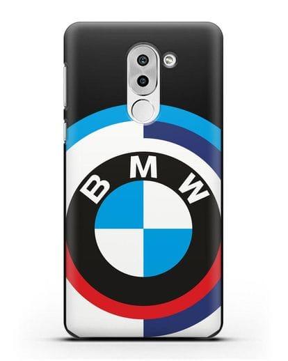 Чехол с логотипом BMW силикон черный для Honor 6X