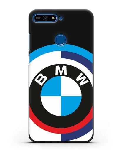 Чехол с логотипом BMW силикон черный для Honor 7А Pro