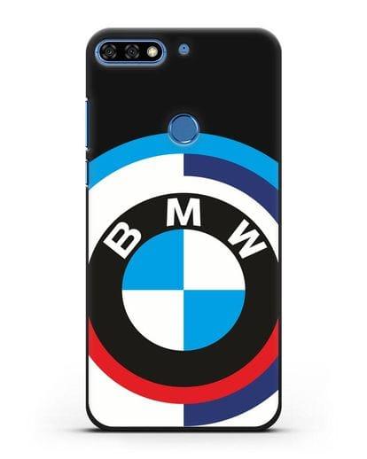 Чехол с логотипом BMW силикон черный для Honor 7C Pro