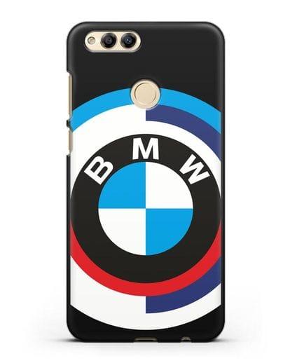 Чехол с логотипом BMW силикон черный для Honor 7X