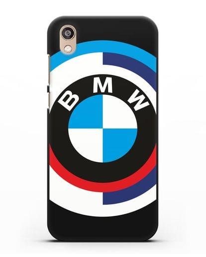 Чехол с логотипом BMW силикон черный для Honor 8S Prime