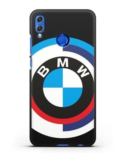 Чехол с логотипом BMW силикон черный для Honor 8X