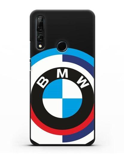Чехол с логотипом BMW силикон черный для Honor 9X
