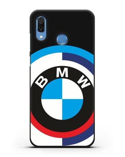 Чехол с логотипом BMW силикон черный для Honor Play