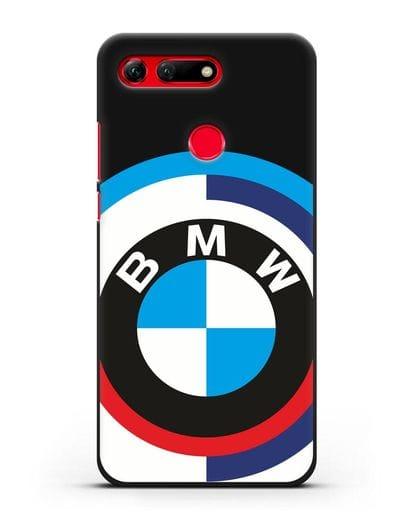 Чехол с логотипом BMW силикон черный для Honor View 20