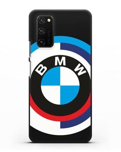 Чехол с логотипом BMW силикон черный для Honor View 30 Pro