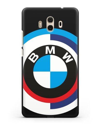 Чехол с логотипом BMW силикон черный для Huawei Mate 10